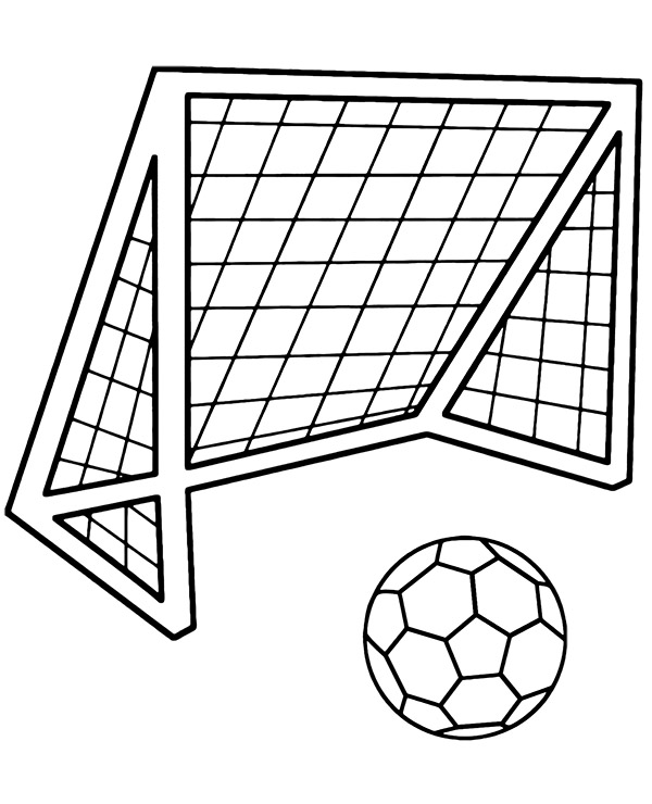 football color page football goal soccer coloring page topcoloringpagesnet football color page