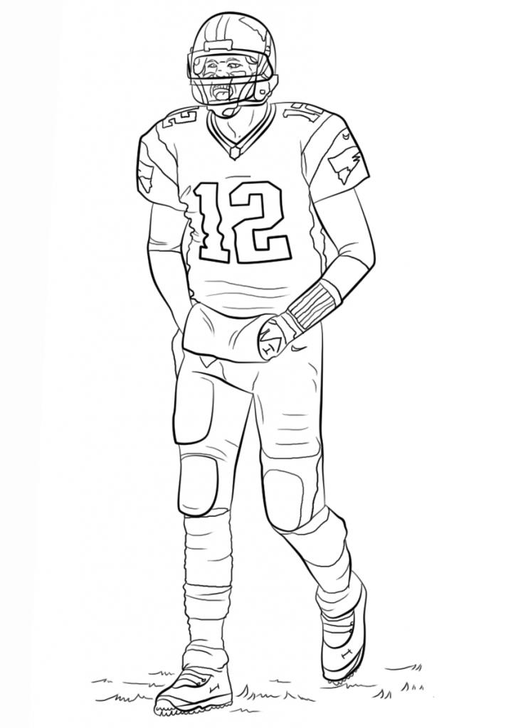 football color page free printable football coloring pages for kids best page football color