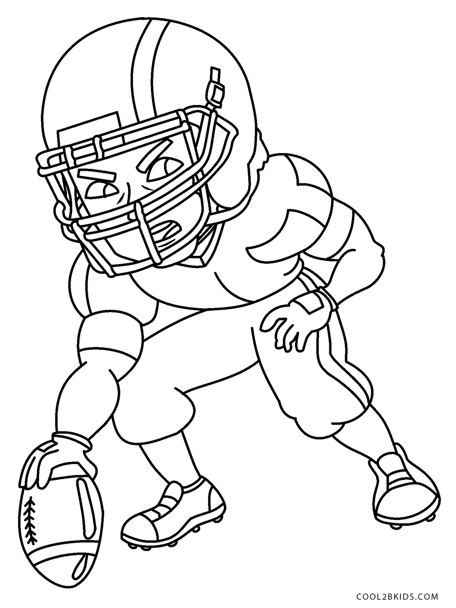 football color page kid football player soccer football futbol kid playing color football page