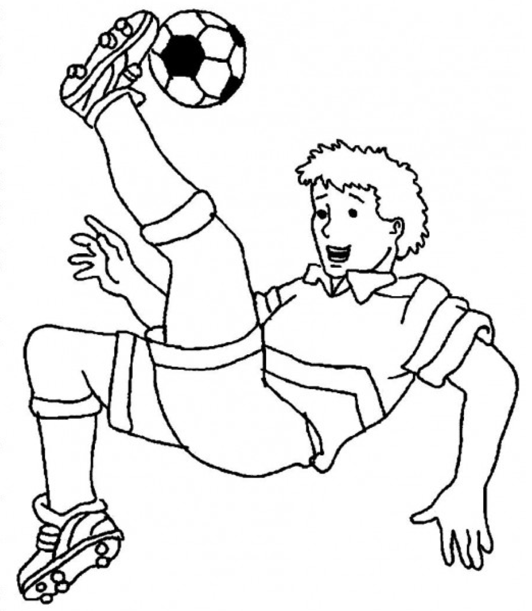 football coloring pages online a boy with perfect ball handling on soccer game coloring football online pages coloring