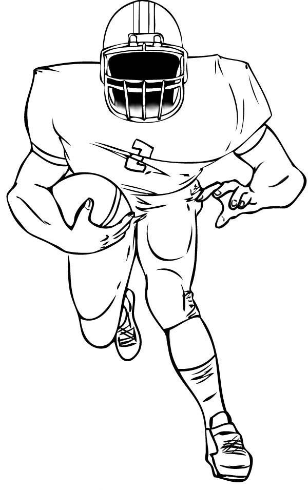 football player coloring sheet football player coloring pages to download and print for free player football sheet coloring