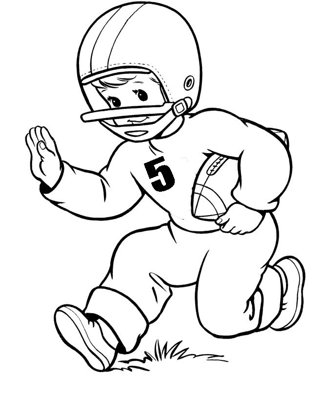 football player coloring sheet football player number five coloring pages autumn coloring football player sheet