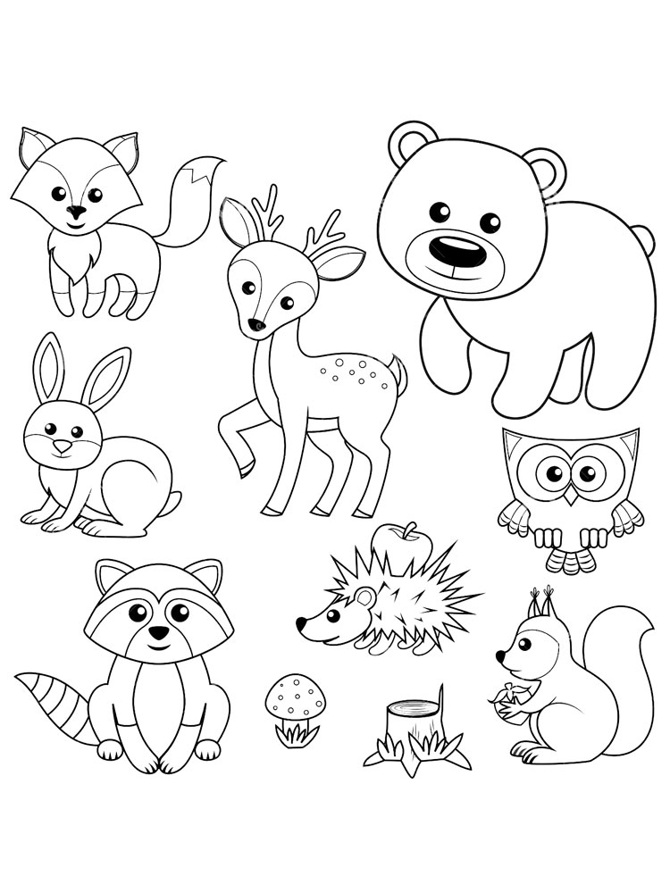 forest animal coloring pages free printable rainforest coloring pages coloring home forest animal pages coloring