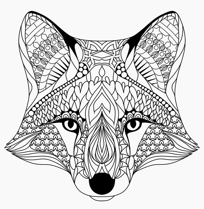 fox face coloring page free fox coloring pages coloring fox page face