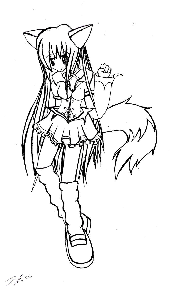 fox girl coloring pages anime fox girl cute coloring pages coloring home girl pages coloring fox
