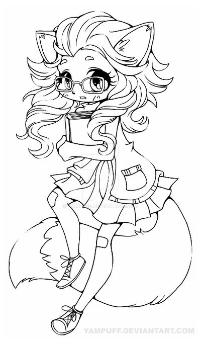 fox girl coloring pages anime fox girl cute coloring pages coloring home pages girl fox coloring