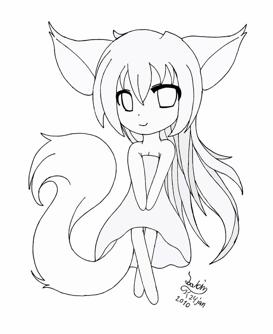 fox girl coloring pages beautiful fox girl lineart by joakaha on deviantart fox girl coloring pages