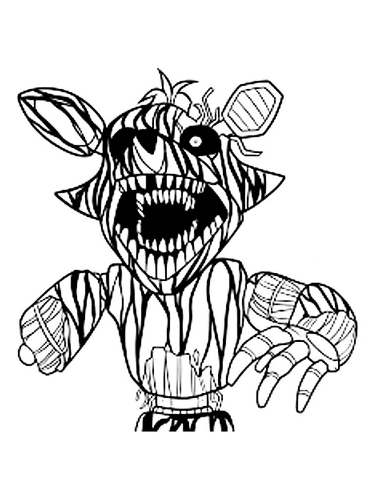 foxy coloring animatronics foxy coloring pages download and print foxy coloring