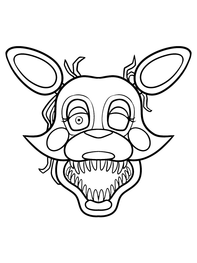 foxy coloring animatronics foxy coloring pages download and print foxy coloring 1 1