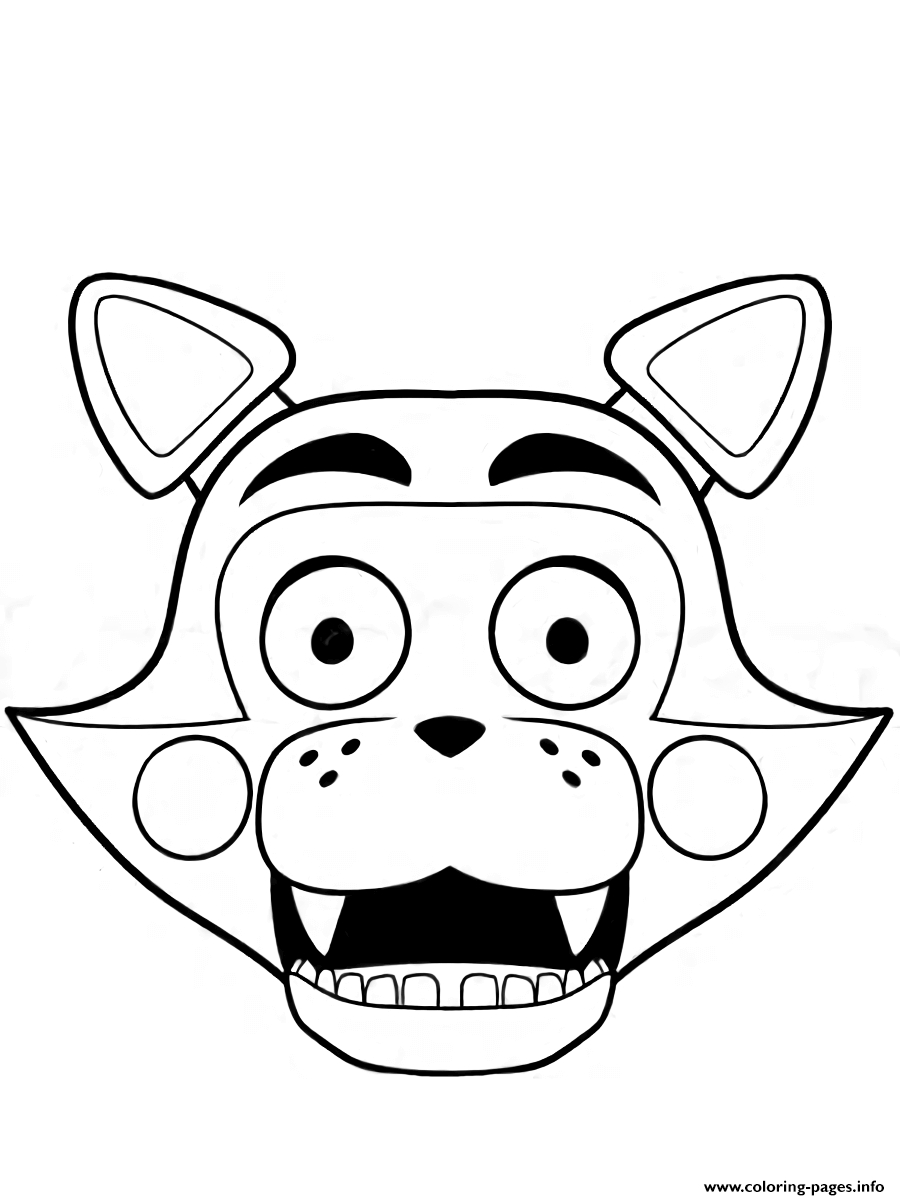foxy coloring cute foxy the pirate coloring coloring pages foxy coloring