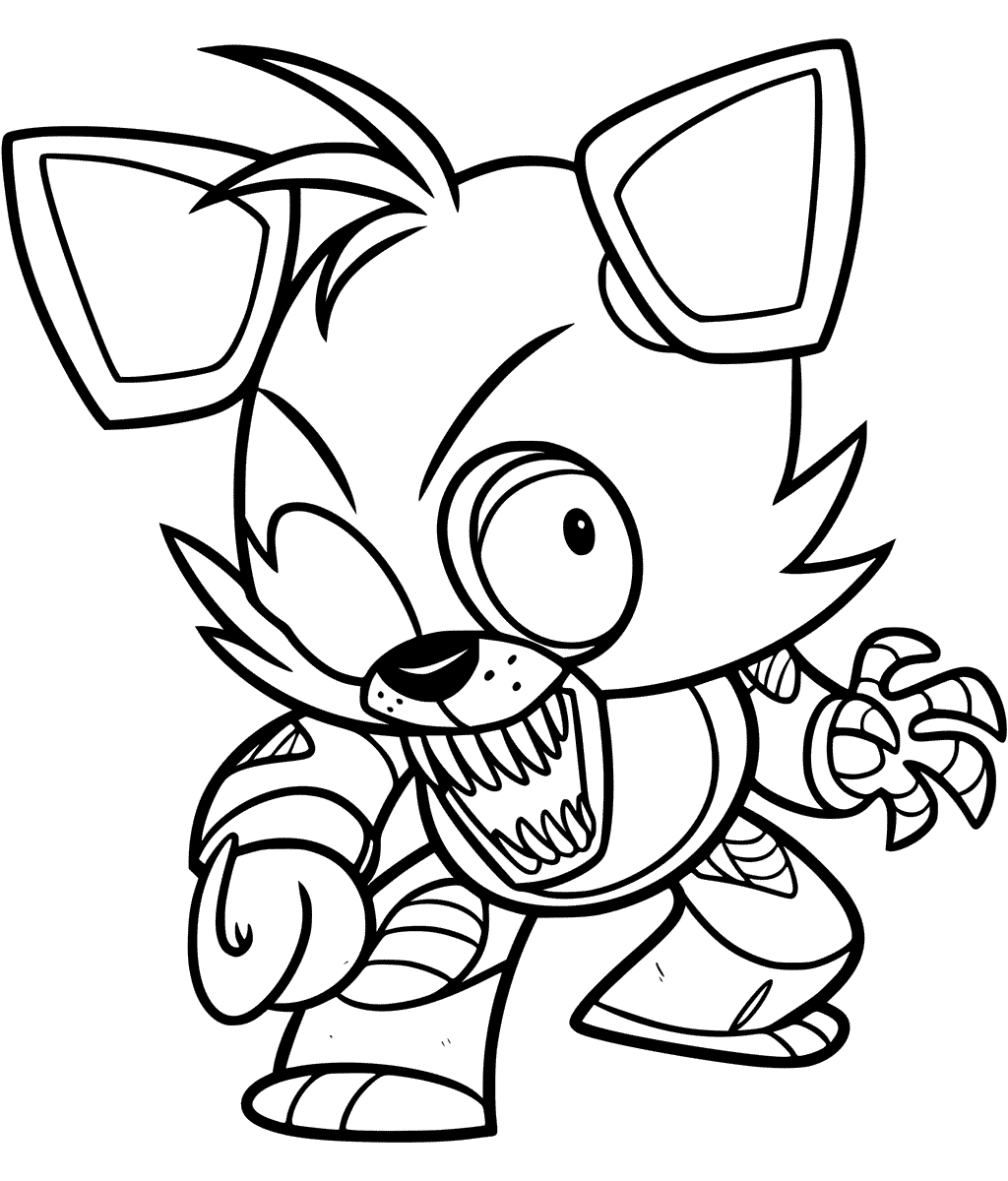 foxy coloring fnaf foxy coloring page free printable coloring pages foxy coloring