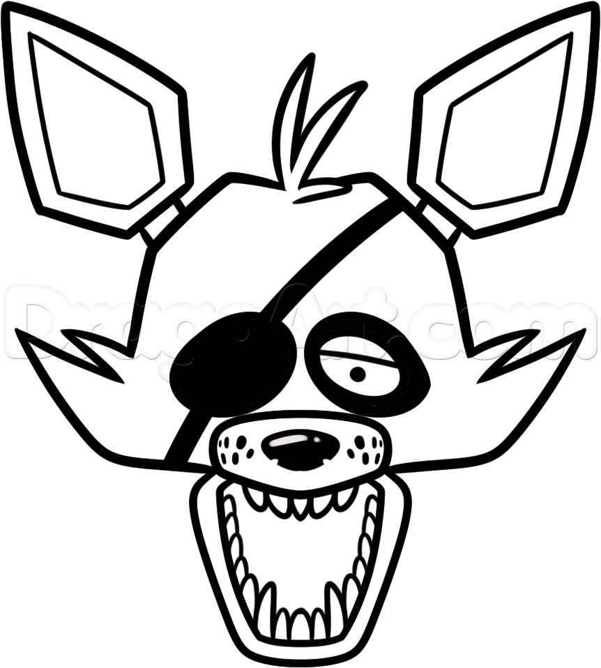 foxy coloring fnaf foxy coloring pages at getdrawings free download coloring foxy