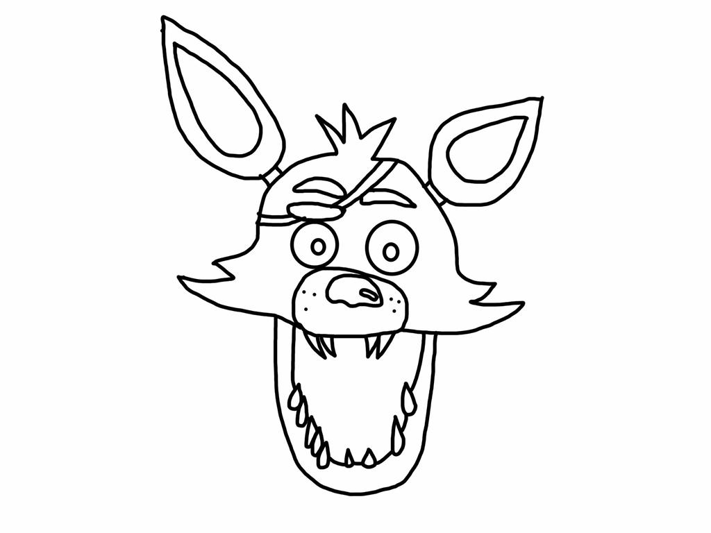 foxy coloring fnaf foxy sketch portrait 23 by xxdemithegreatxx on coloring foxy