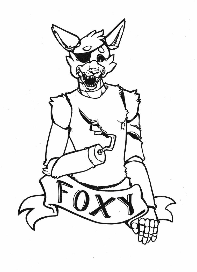foxy coloring foxythepirate coloring page by fuwacatart on deviantart coloring foxy