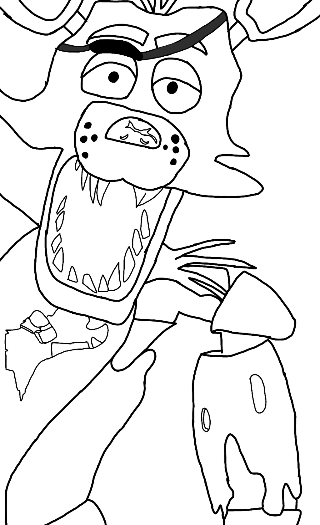 foxy coloring free 2 use fnaf foxy lineart by fireheart2firestar on foxy coloring