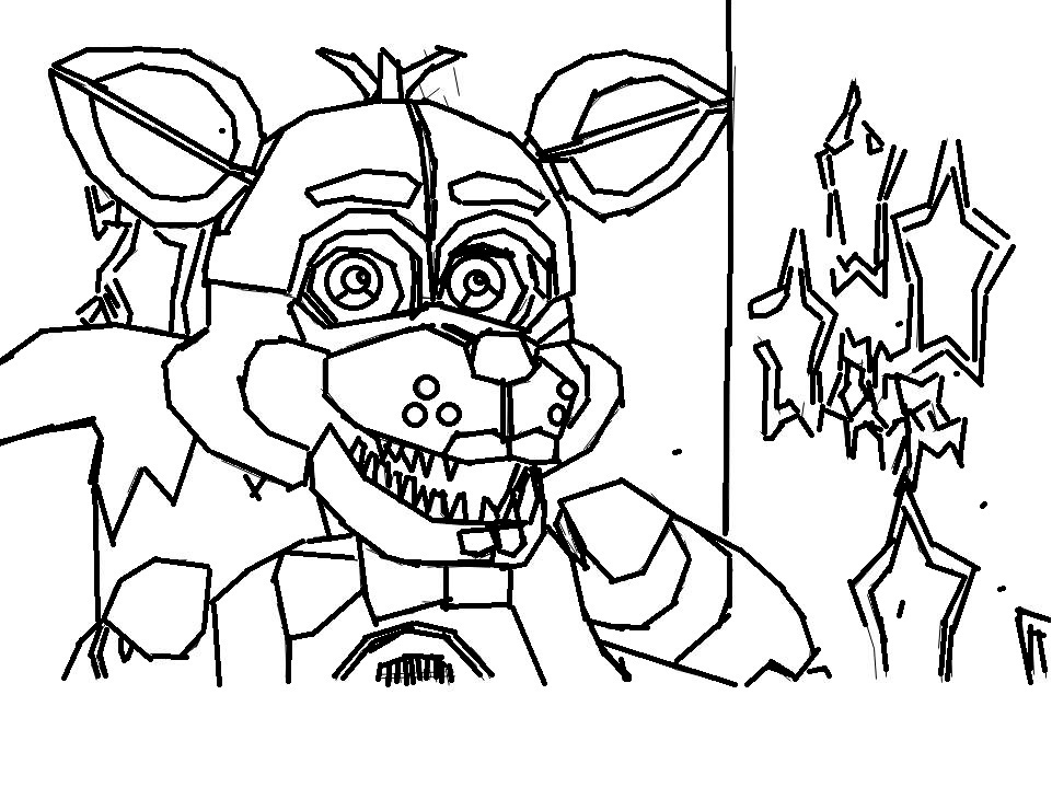 foxy coloring funtime foxy drawing at getdrawings free download coloring foxy