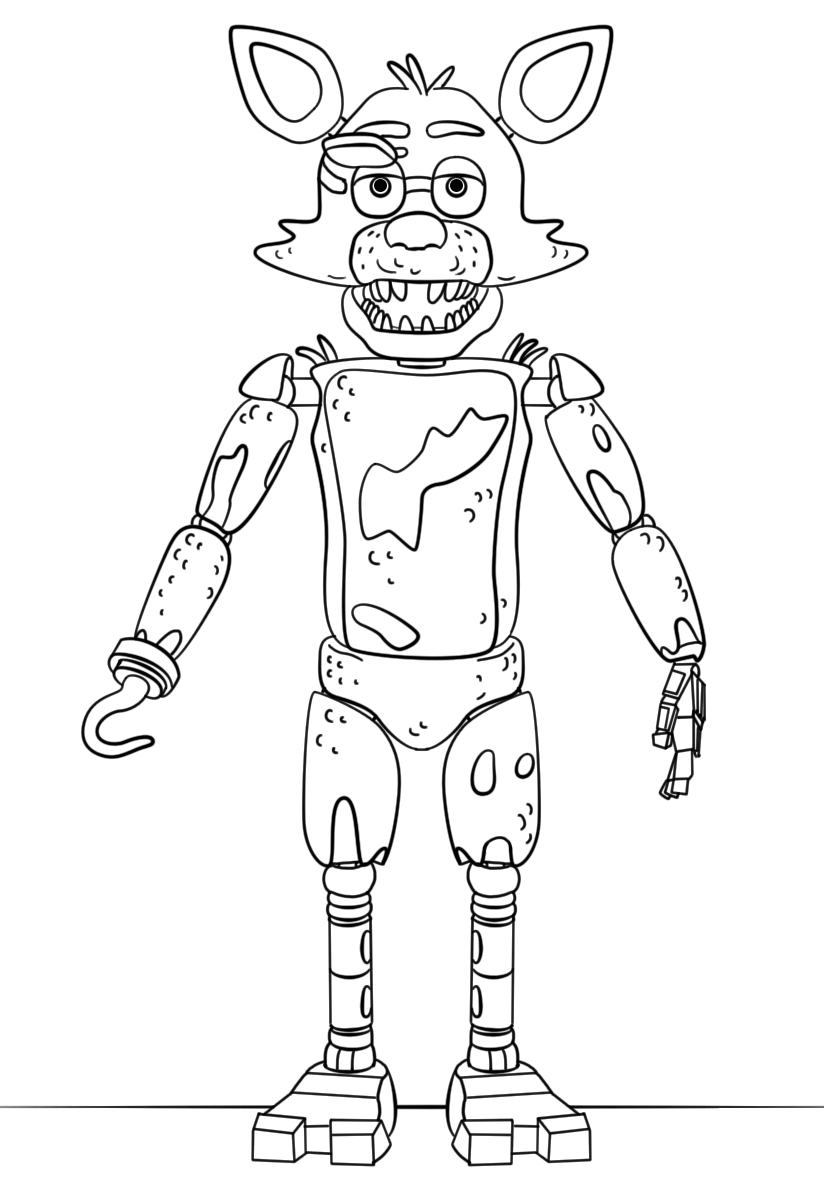 foxy coloring nightmare feddy free coloring pages foxy coloring