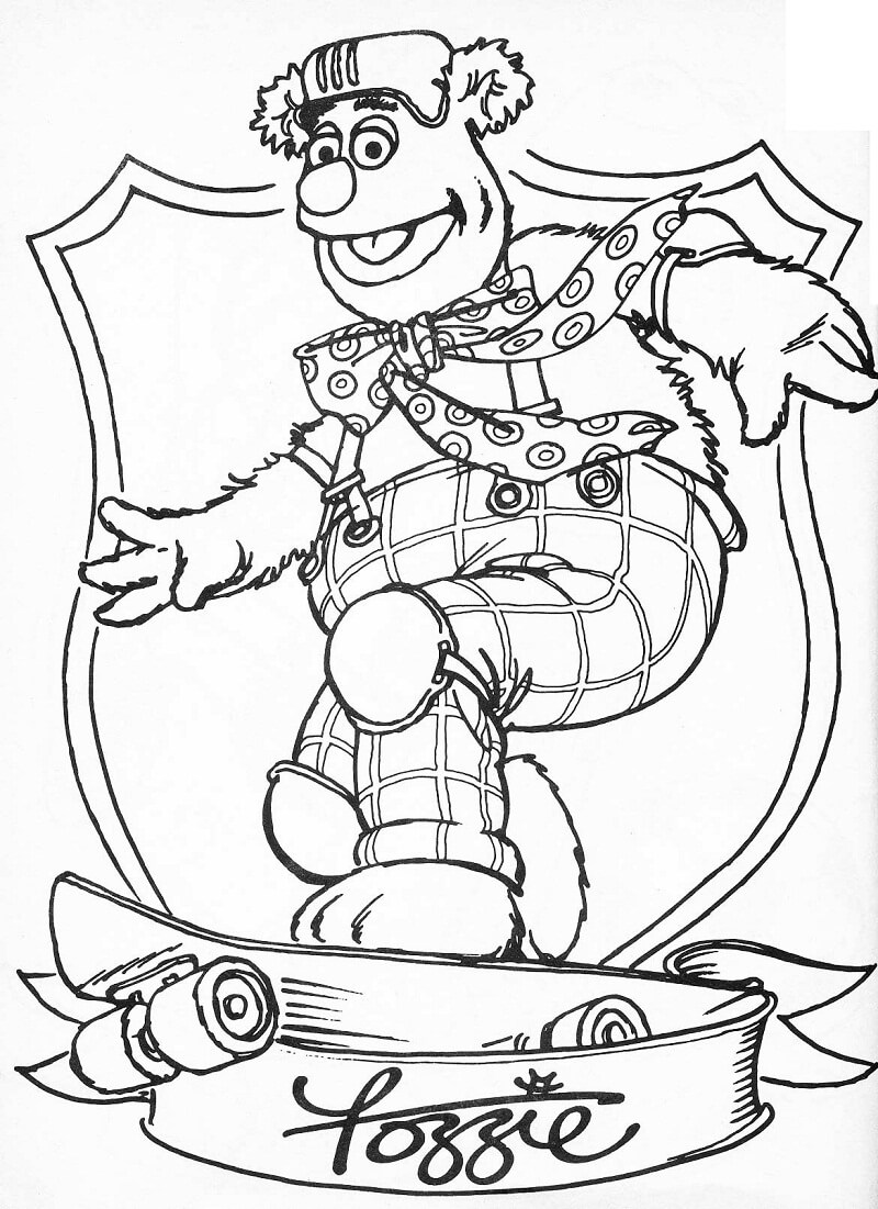 fozzie bear coloring pages bear fozzie coloring page wecoloringpagecom fozzie bear pages coloring