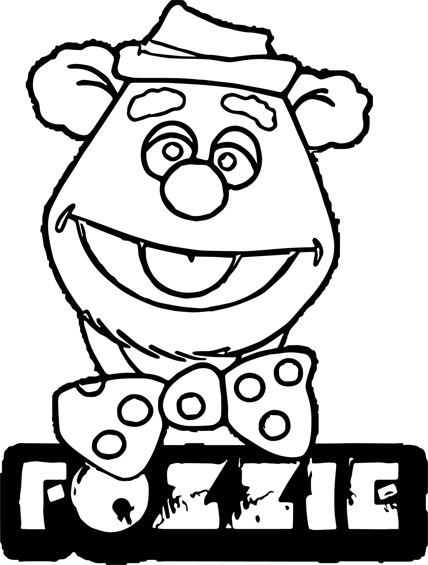 fozzie bear coloring pages drawing head of fozzie bear the muppets coloring pages coloring bear pages fozzie