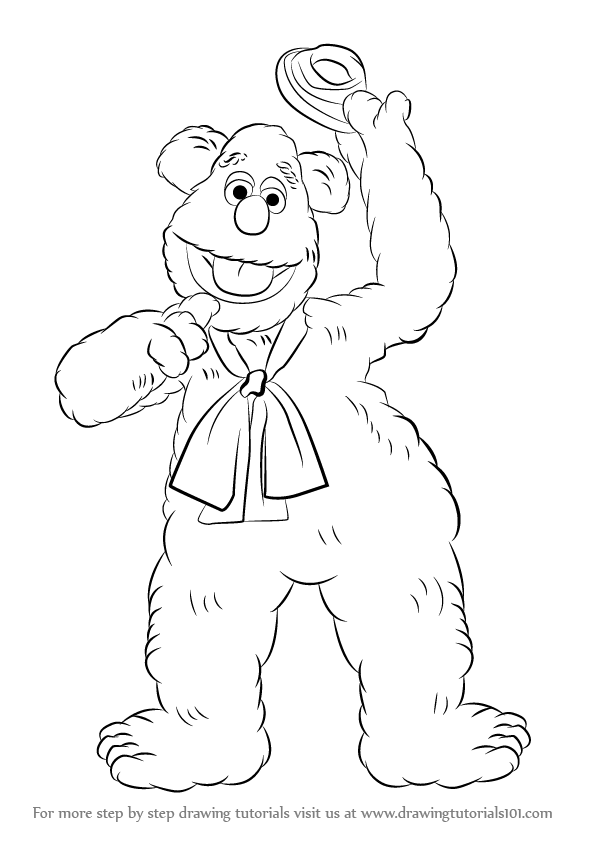 fozzie bear coloring pages fozzie bear coloring pages bear fozzie pages coloring