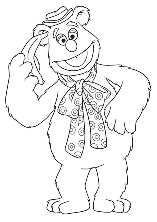 fozzie bear coloring pages muppets drawing free download on clipartmag fozzie pages coloring bear