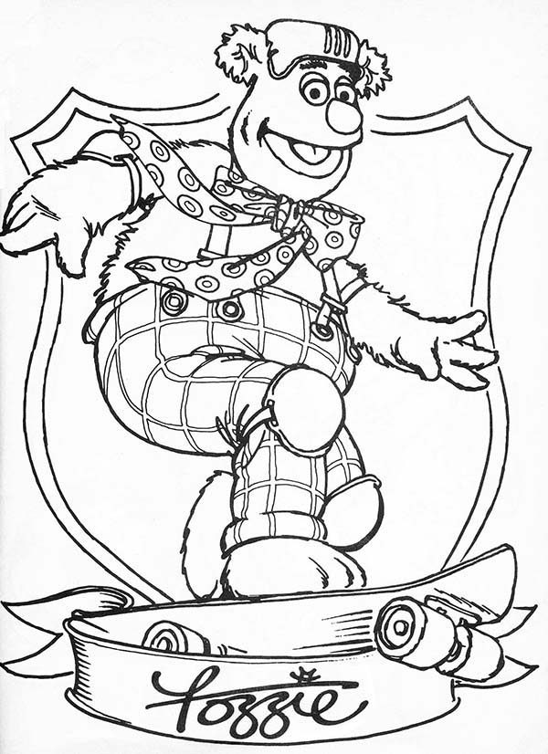fozzie bear coloring pages muppets fozzie bear coloring pages coloring pages fozzie bear coloring pages