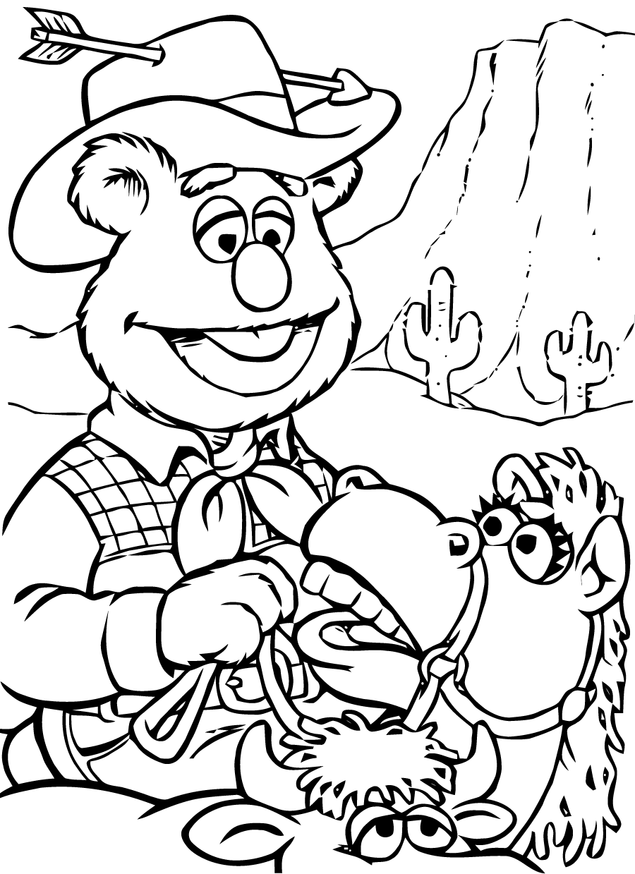 fozzie bear coloring pages the muppets coloring pages free printable coloring pages bear pages fozzie coloring