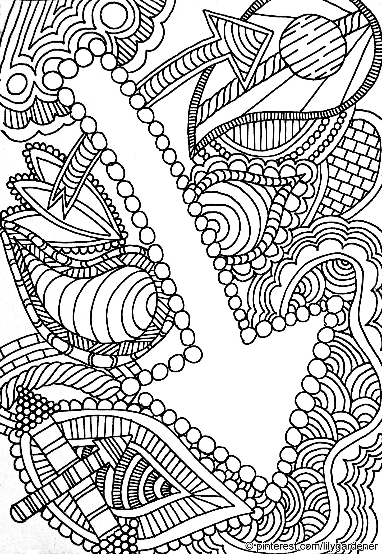 free abstract coloring pages free printable abstract coloring pages for kids pages free coloring abstract