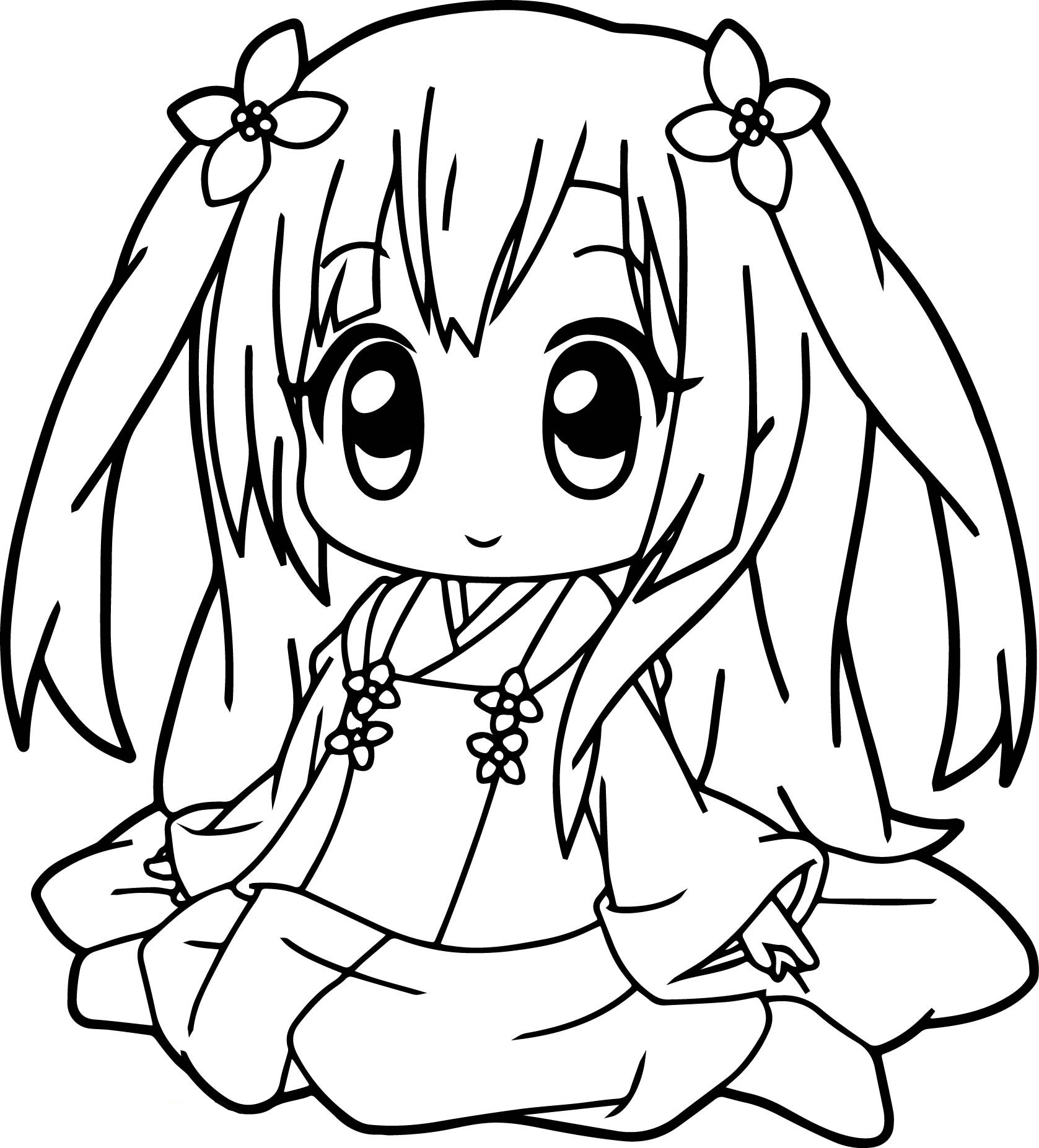 free anime coloring free printable chibi coloring pages for kids free coloring anime