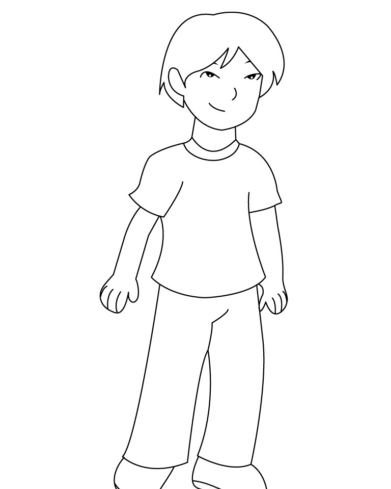 free boy coloring pages cute boy coloring pages at getcoloringscom free boy coloring free pages