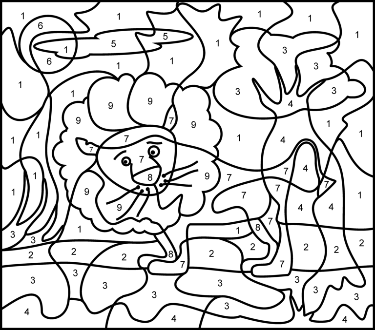 free color by number color by number coloring page free printable my mommy style color free by number