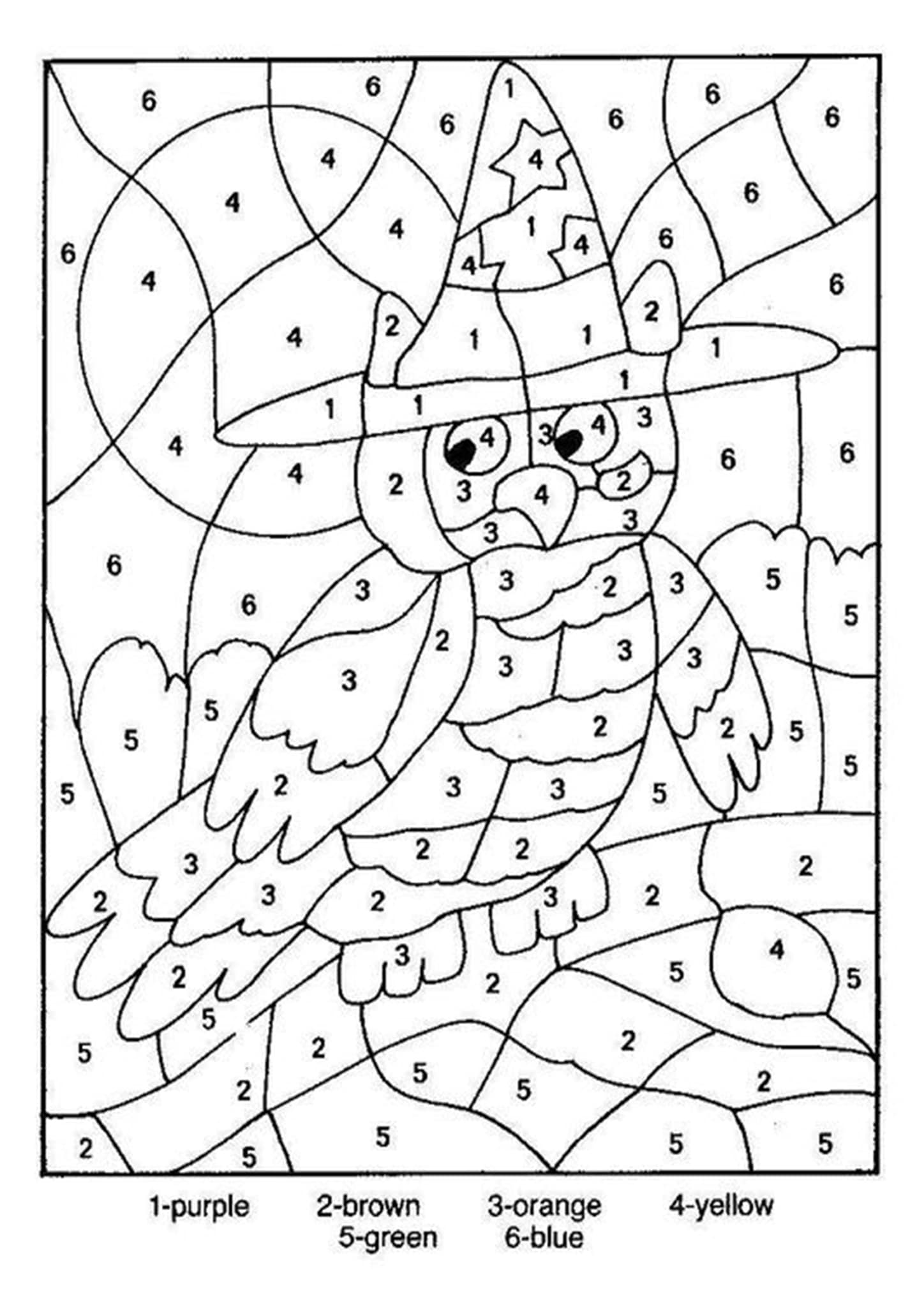free color by number free printable color by number worksheets for kindergarten free color number by