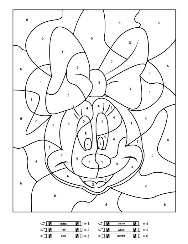 free color by number your children will love these free disney color by number by free number color