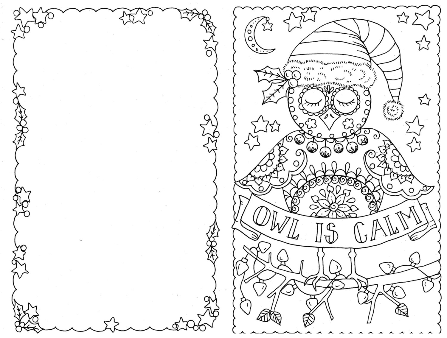 free coloring christmas cards 4 cards to color owl christmas cards you be the artist color cards free christmas coloring