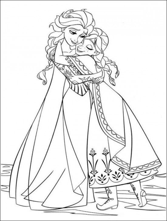free coloring pages elsa and anna elsa and anna as children new frozen coloring page free coloring pages anna elsa and