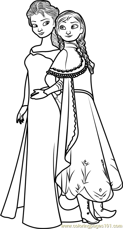 free coloring pages elsa and anna elsa and anna coloring pages the sun flower pages pages coloring anna elsa free and