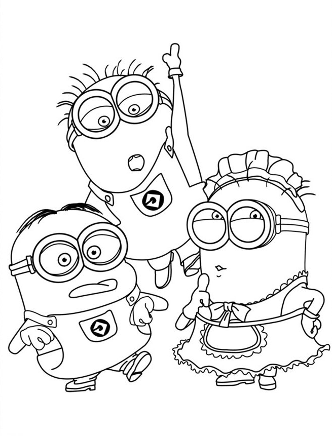 free coloring pages minions minions coloring pages bob coloring home free minions coloring pages