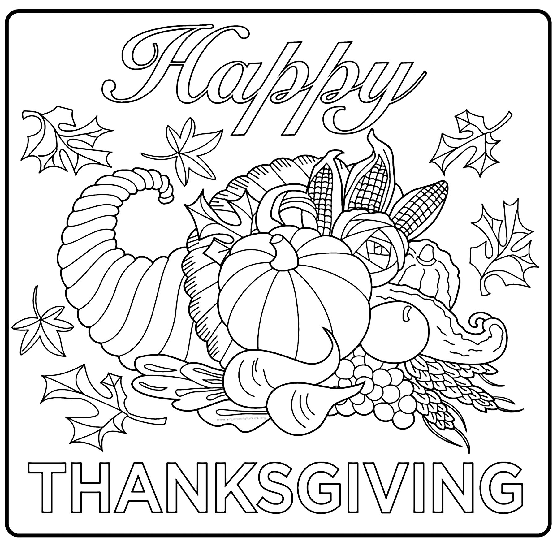 free coloring pages thanksgiving an adult coloring page for thanksgiving kitchn pages free coloring thanksgiving