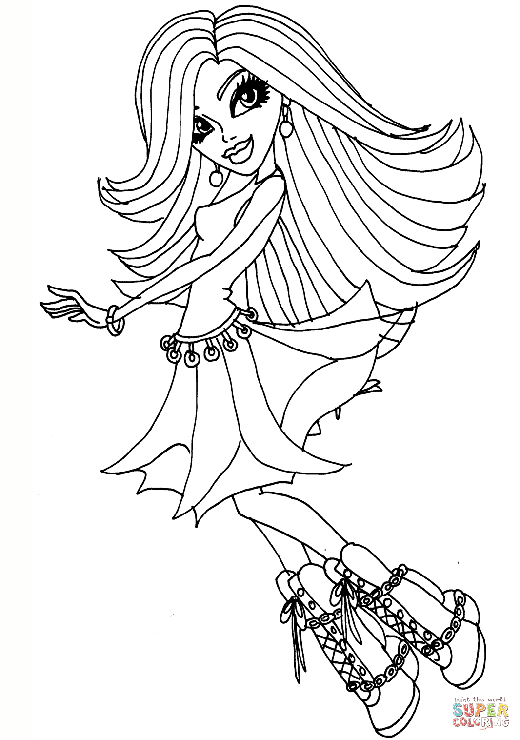 free colouring pages monster high coloring pages monster high coloring pages free and printable pages colouring high monster free