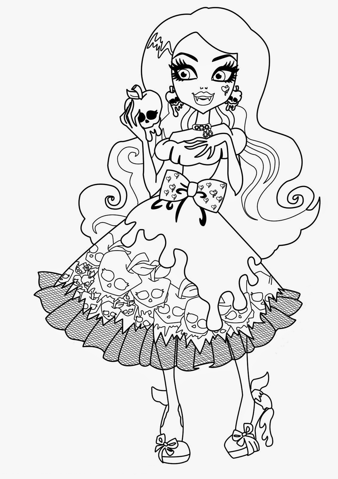 free colouring pages monster high free printable monster high coloring pages for kids pages high free colouring monster