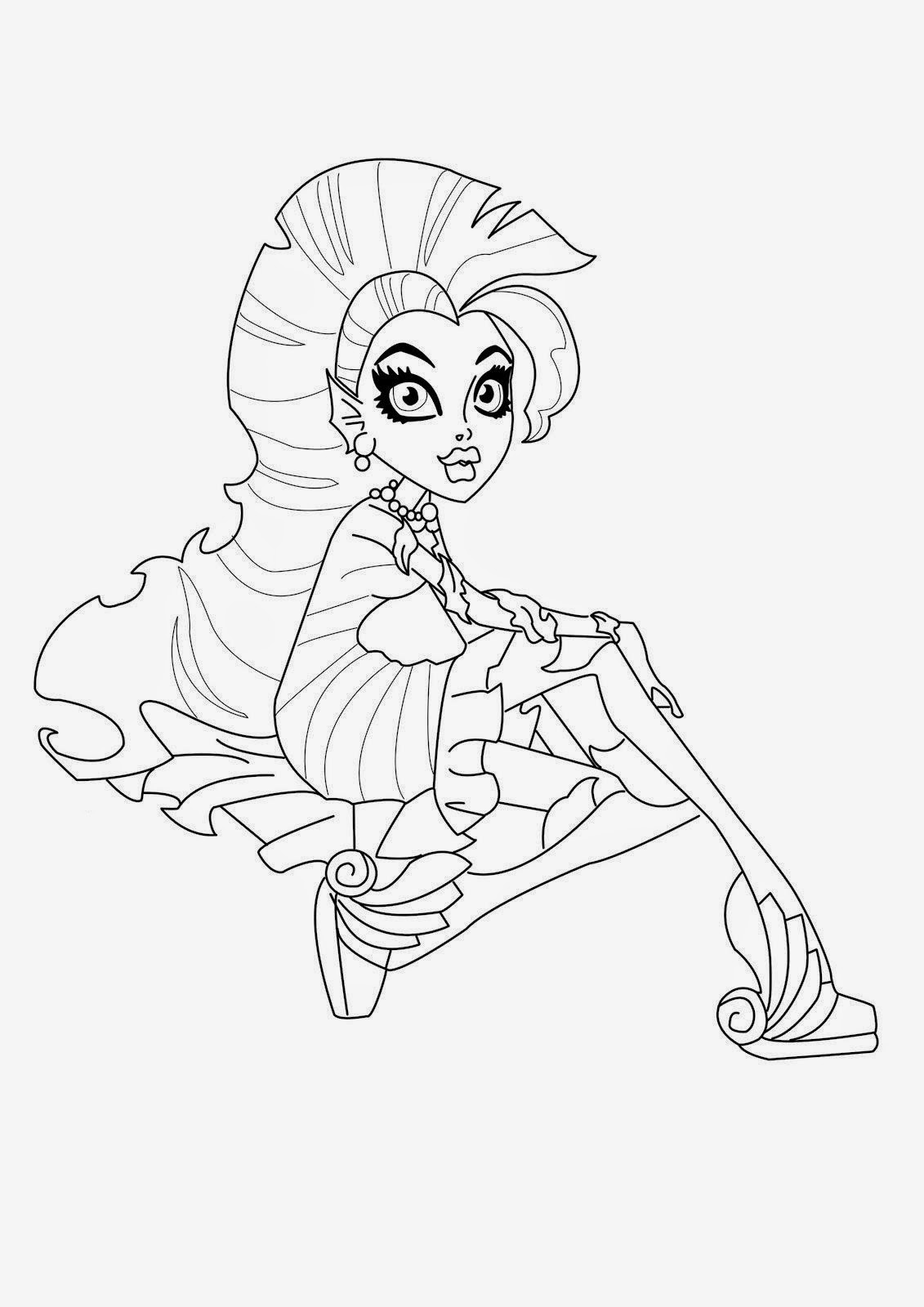 free colouring pages monster high monster high catty noir colouring pages coloring pages monster high free colouring pages