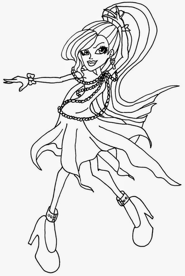 free colouring pages monster high monster high spectra vondergeist doll coloring page free pages monster high colouring free