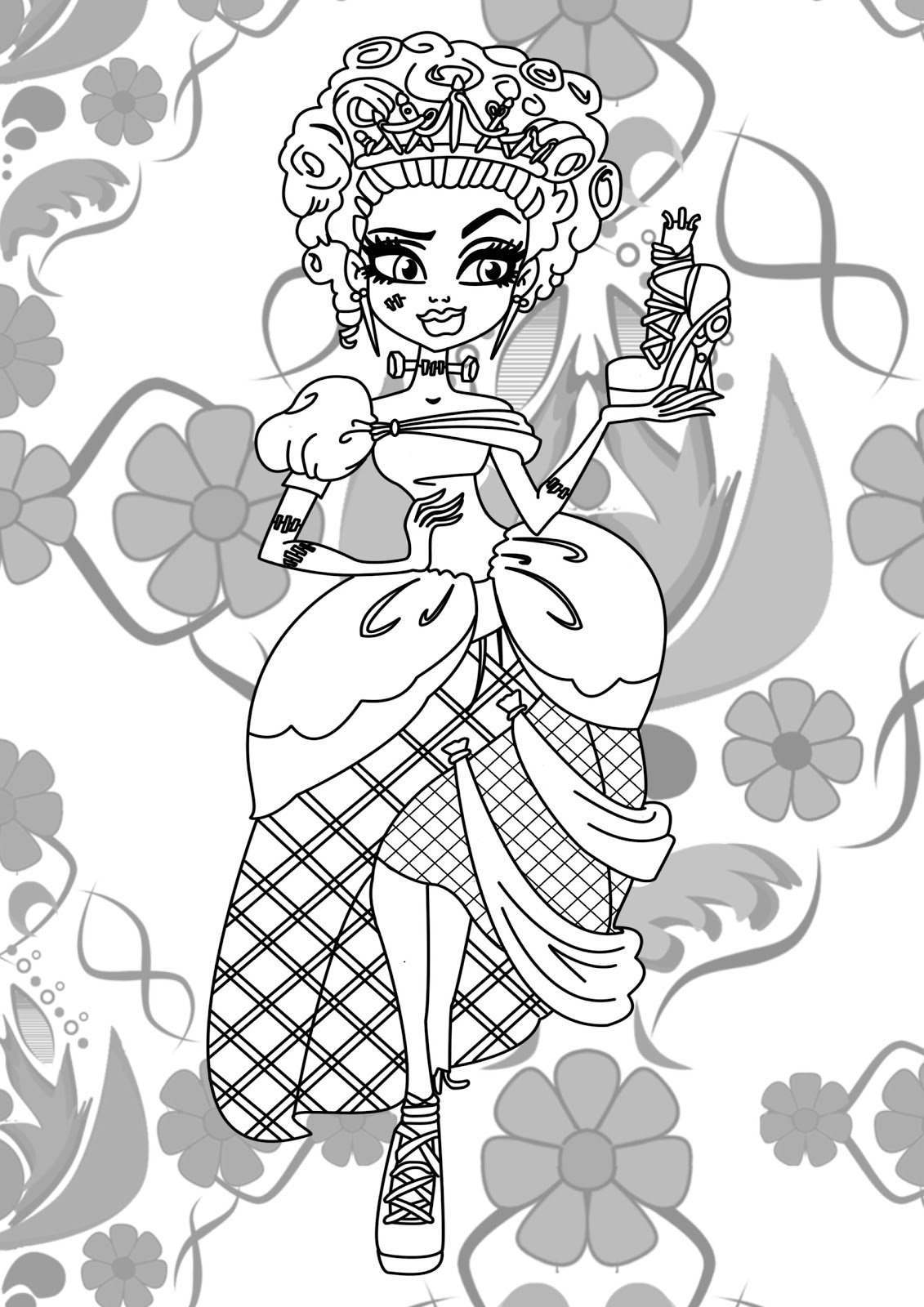 free colouring pages monster high print monster high coloring pages for free or download high pages monster colouring free