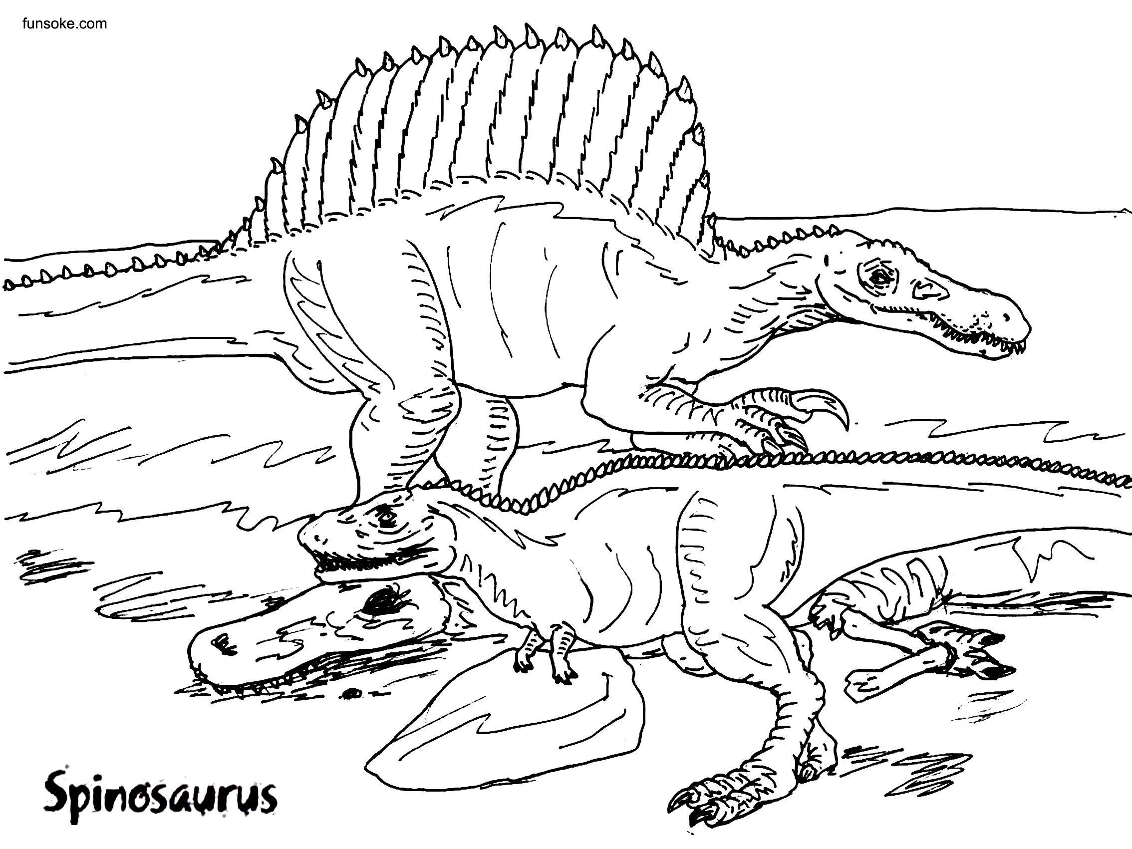 free dinosaur pictures free printable spinosaurus coloring pages funsoke free dinosaur pictures