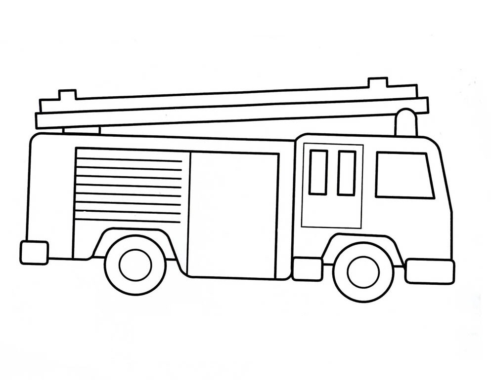 free fire truck coloring pages truck outline drawing at getdrawings free download free fire truck coloring pages