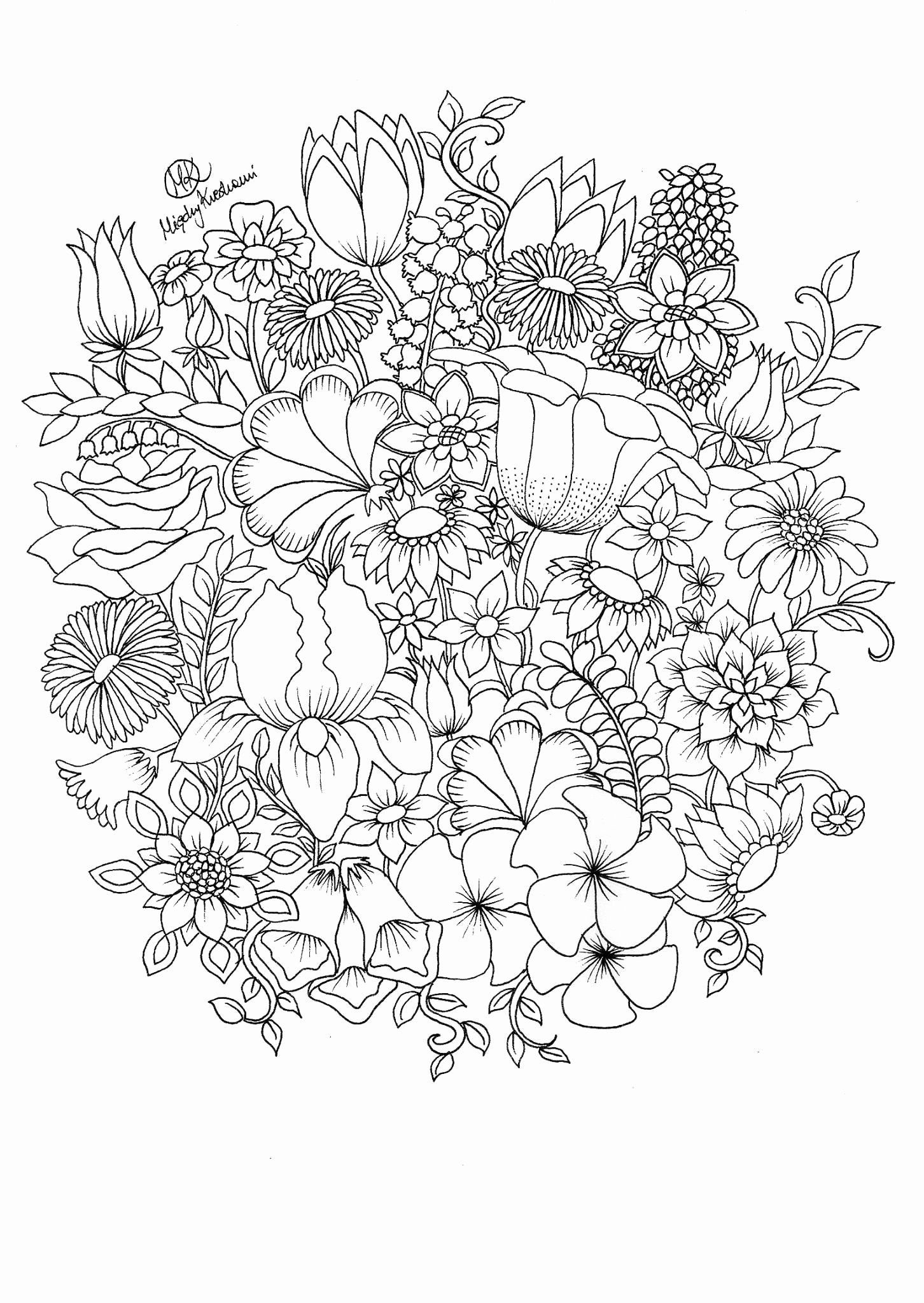 free flower coloring pages for adults adult coloring pages flowers to download and print for free adults free flower coloring for pages
