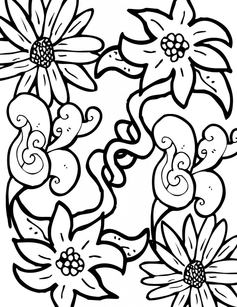 free flower coloring pages for adults adult coloring pages flowers to download and print for free for adults free pages coloring flower