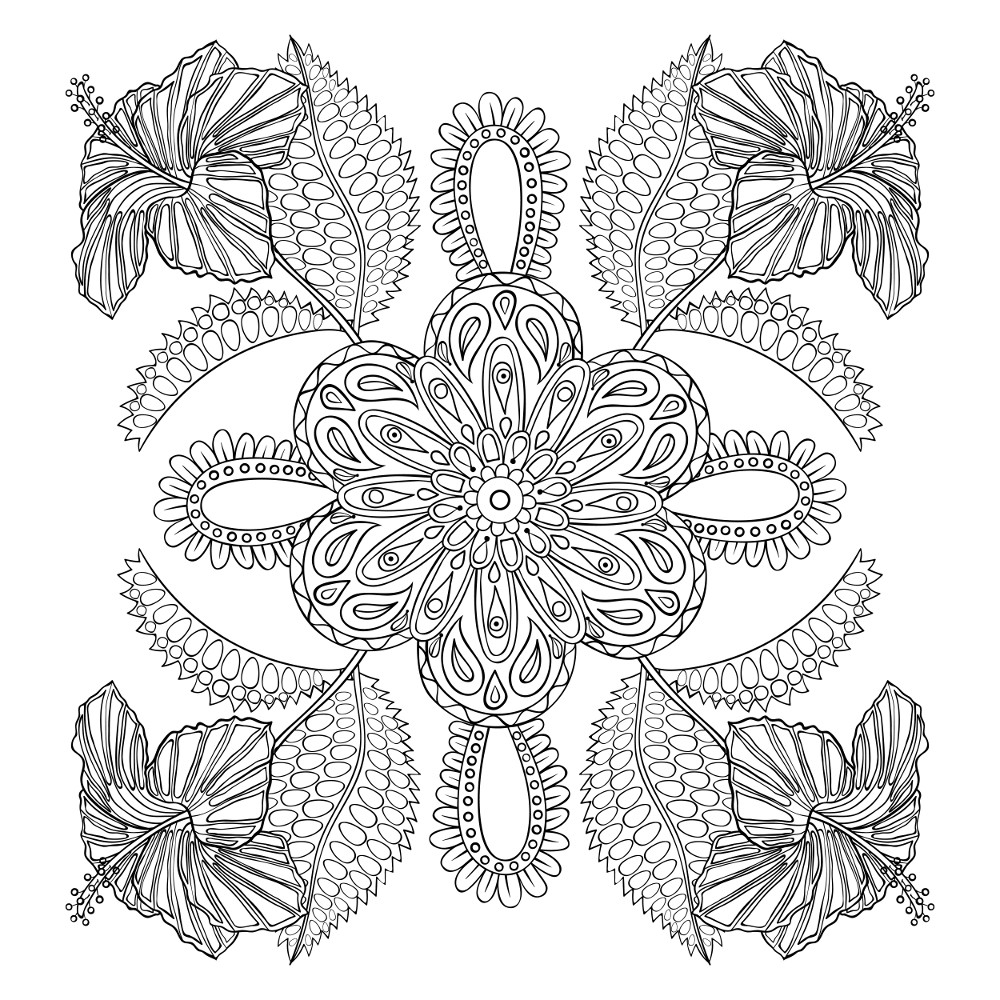 free flower coloring pages for adults adult coloring pages flowers to download and print for free pages free adults flower for coloring