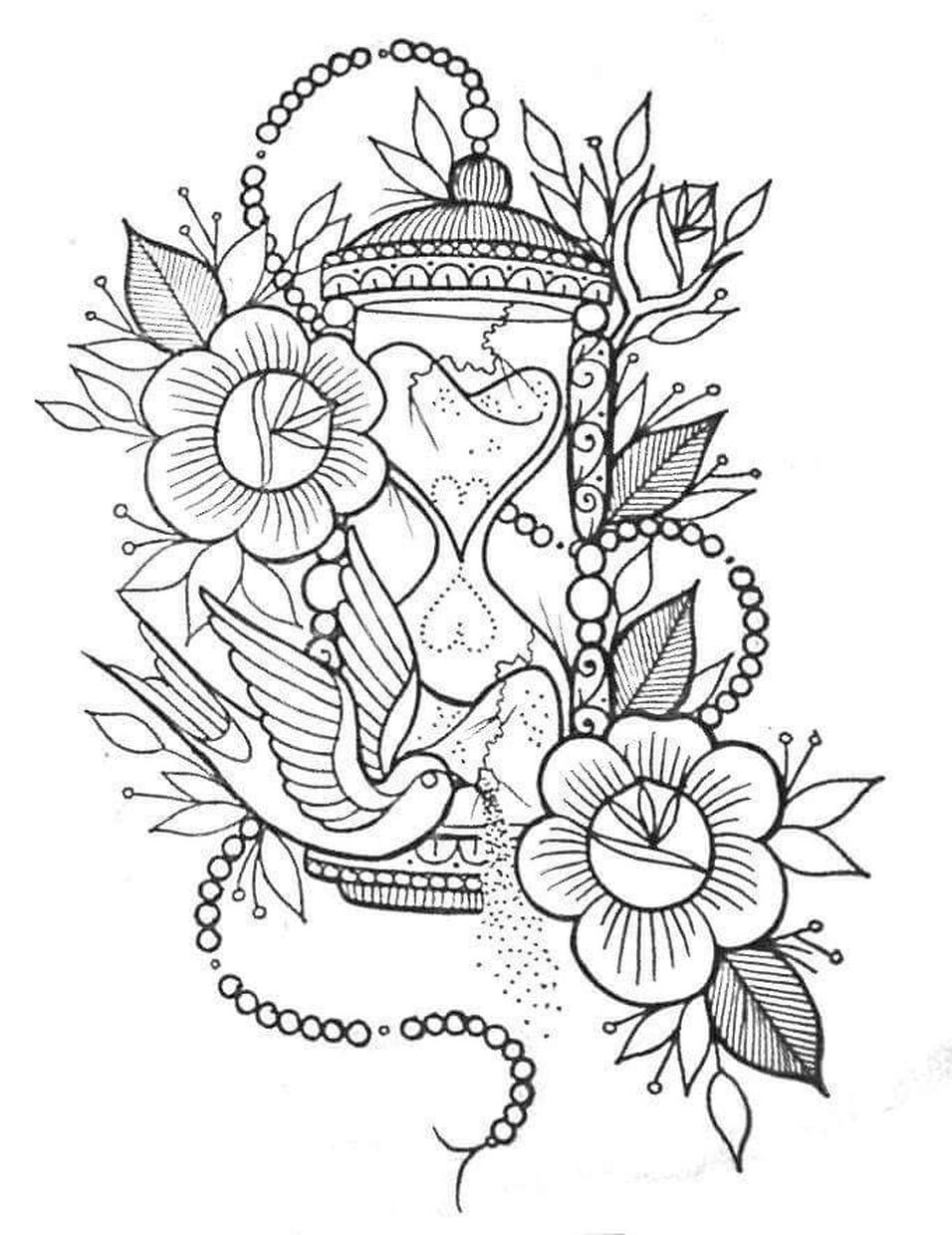 free flower coloring pages for adults four free flower coloring pages for adults for coloring free adults flower pages