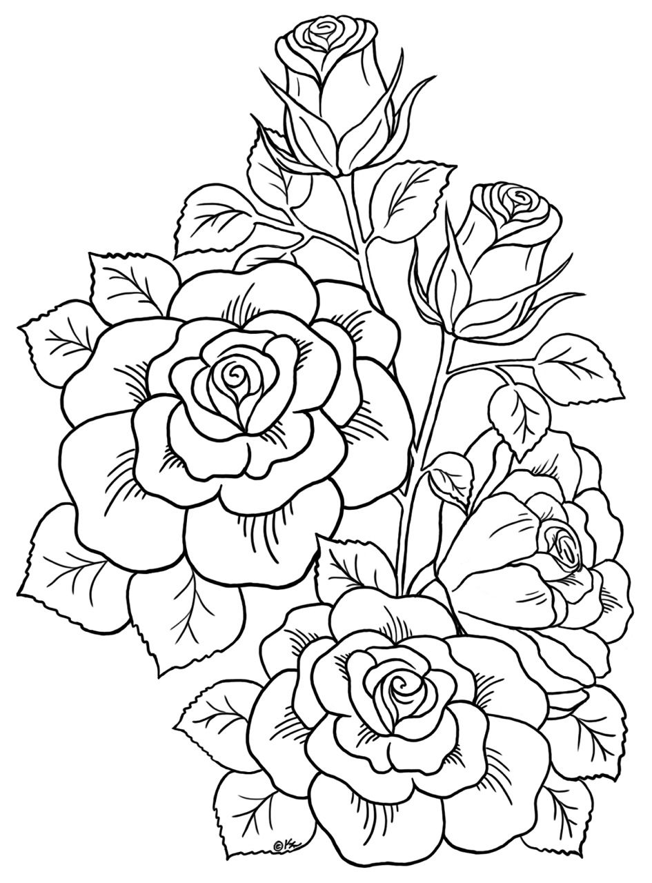 free flower coloring pages for adults free spring coloring pages for adults the country chic for coloring flower free pages adults